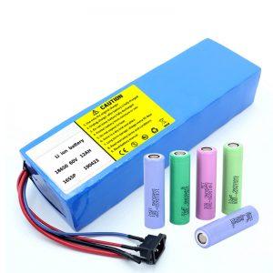 लिथियम बैटरी 18650 60V 12AH लिथियम आयन रिचार्जेबल स्कूटर बैटरी पैक