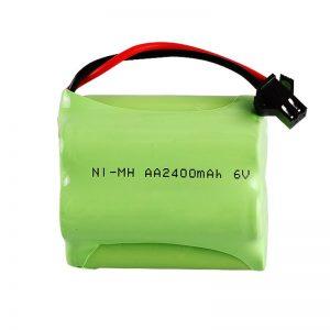 NiMH रिचार्जेबल बैटरी AA2400 6V