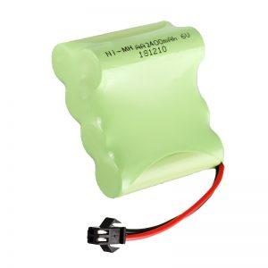 NiMH रिचार्जेबल बैटरी AA2400 6V रिचार्जेबल इलेक्ट्रिक खिलौने उपकरण बैटरी पैक