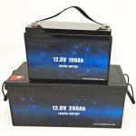 डीप साइकल LiFePO4 सोलर बैटरी 12V 100Ah / 200Ah गोल्फ कार्ट लिथियम आयन बैटरी