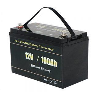 ऑल इन वन सबसे सुरक्षित सोलर RV 12v 100ah LiFePO4 लिथियम बैटरी पैक
