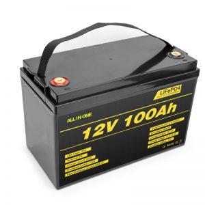 LiFePO4 बैटरी पैक लिथियम सेल 12v 100ah डीप साइकिल बैटरी