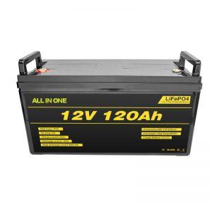 Lifepo4 BMS लिथियम बैटरी पैक 12v 120ah Lifepo4 लिथियम आयन बैटरी 12v