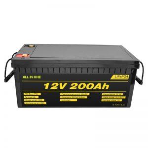 2000 चक्र जीवन lifepo4 बैटरी के साथ अनुकूलन योग्य इलेक्ट्रिक कार 12V Lifepo4 बैटरी 12.8v 200ah