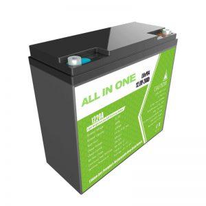 सभी में एक 12.8V20Ah प्रतिस्थापन लीड एसिड लिथियम बैटरी