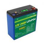 सोलर डीप साइकिल 24v 48v 24ah Lifepo4 बैटरी पैक UPS 12v 24ah बैटरी