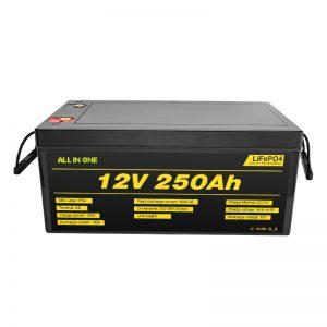 सबसे लोकप्रिय सर्वश्रेष्ठ सौर प्रणाली बैटरी पैक 12V 250Ah LiFePO4 लिथियम आयन बैटरी