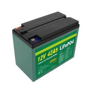 रखरखाव अनुकूलित सौर 12v 40ah 42ah Lifepo4 सेल Lifepo4 बैटरी पैक बीएमएस के साथ
