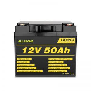 इलेक्ट्रिक पावर सिस्टम के लिए 12V 50Ah Rchargeable डीप साइकिल Lifepo4 बैटरी पैक