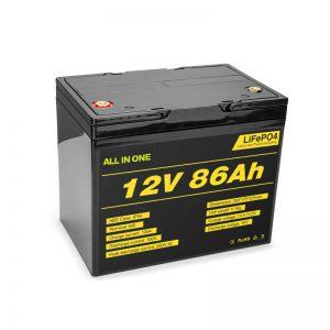 Lifepo4 12v 85ah रिचार्जेबल सोलर लिथियम आयन बैटरी पैक डीप साइकिल