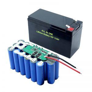 सभी में एक 18650 3S5P 12Volt लिथियम बैटरी 11A रिचार्जेबल लिथियम बैटरी पैक