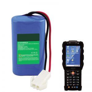 एक्सप्रेस रसद के लिए 18650 7.2V 2.6Ah लिथियम बैटरी हाथ में टर्मिनल उपकरण