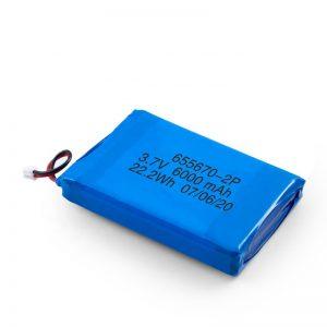 3.7 m / 7.4v 3000mah ली लिथियम बहुलक बैटरी 3.7 m 3000mah के साथ