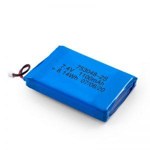 LiPO Rechargeable बैटरी 753048 3.7V 1100mAh / 7.4V 1100mAH / 3.7V 2200mAH
