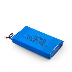 LiPO रिचार्जेबल बैटरी 783968 3.7V 4900mAH / 7.4V 2450mAH / 3.7V 2450mAH /