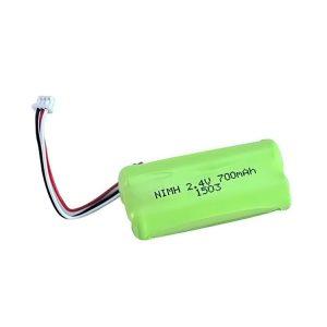NiMH रिचार्जेबल बैटरी AA700 2.4V