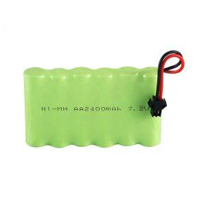 NiMH रिचार्जेबल बैटरी AA 2400mAh 7.2V