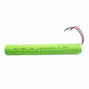 NiMH रिचार्जेबल बैटरी SC 3600mAH 4.8V